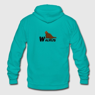Cartoon Walrus - Unisex Fleece Zip Hoodie