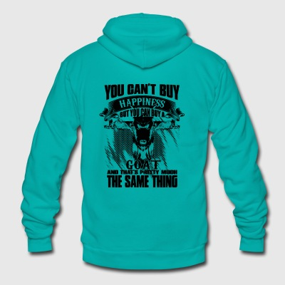 YOU CAN'T BUY HAPPINESS BUT YOU CAN BUY GOAT - Unisex Fleece Zip Hoodie by American Apparel
