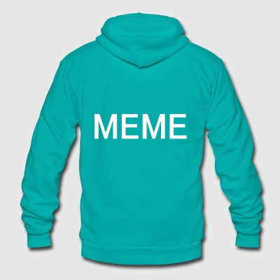 MEME - Unisex Fleece Zip Hoodie by American Apparel