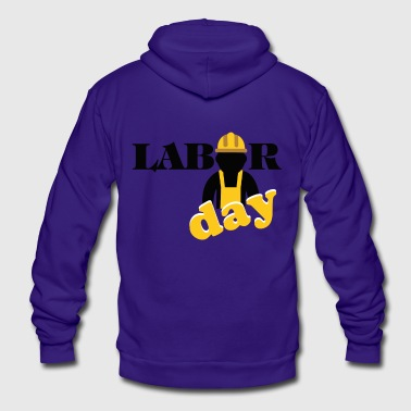 labor day shirt, Happy labor day shirt - Unisex Fleece Zip Hoodie by American Apparel