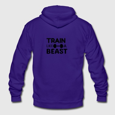 TRAIN LIKE A BEAST - Unisex Fleece Zip Hoodie by American Apparel