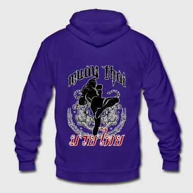 Muay Thai - Tattoo - Unisex Fleece Zip Hoodie by American Apparel