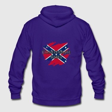 Confederate Rebel - Unisex Fleece Zip Hoodie