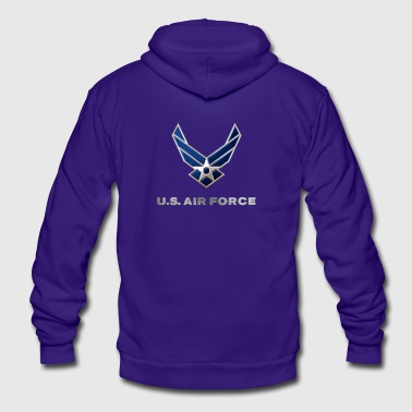 USAF - Unisex Fleece Zip Hoodie by American Apparel
