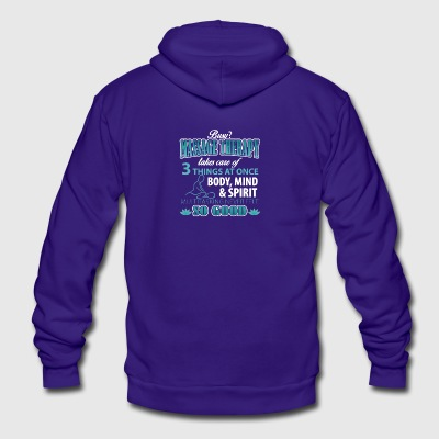 Massage Therapist Shirt - Unisex Fleece Zip Hoodie by American Apparel