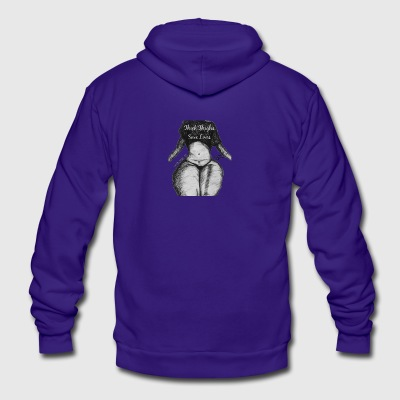 Thick Thighs Save Lives - Unisex Fleece Zip Hoodie by American Apparel