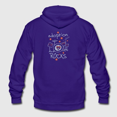 Adoption Rocks - Kids - Unisex Fleece Zip Hoodie by American Apparel