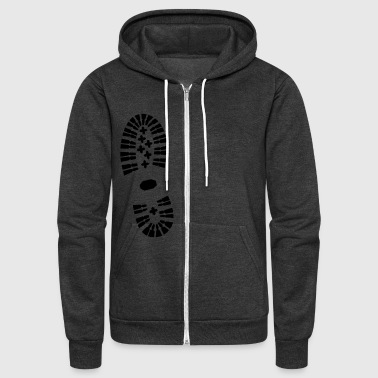 Shoe Print, Shoe, Boot Print - Unisex Fleece Zip Hoodie