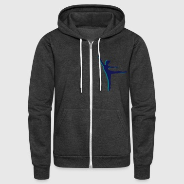 two Ballet dancer - Unisex Fleece Zip Hoodie