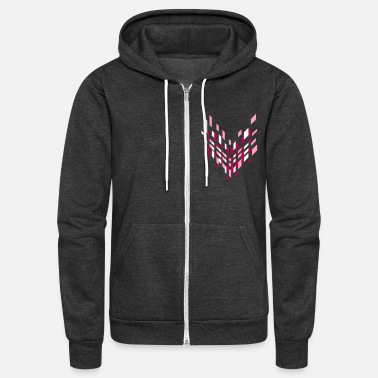Hipster graphical arrow icon - Unisex Fleece Zip Hoodie