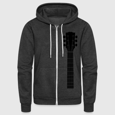 Guitar guitar head - Unisex Fleece Zip Hoodie