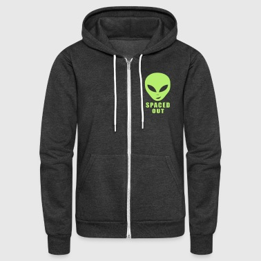 Alien Spaced Out - Unisex Fleece Zip Hoodie