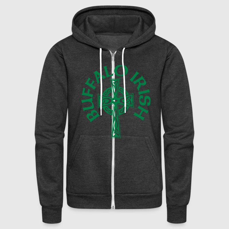 Buffalo Irish Celtic Cross Apparel Clothing - Unisex Fleece Zip Hoodie