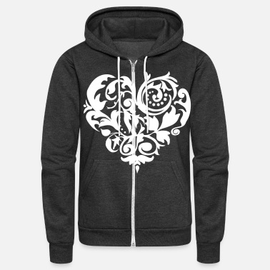 Baroque Baroque Heart - Unisex Fleece Zip Hoodie