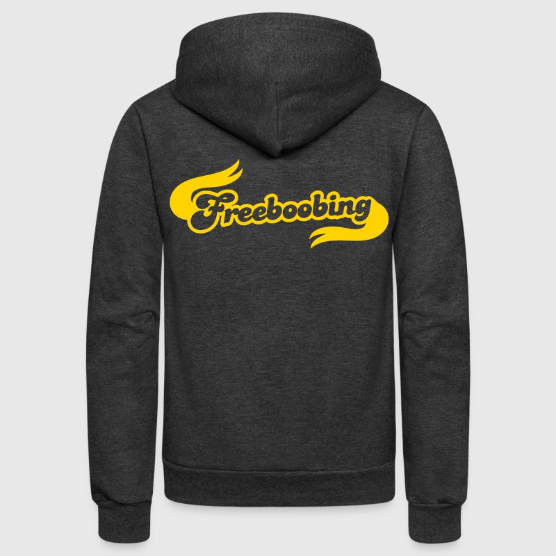 freeboobing (wearing no bras or underwear.. probably not safe for work) - Unisex Fleece Zip Hoodie