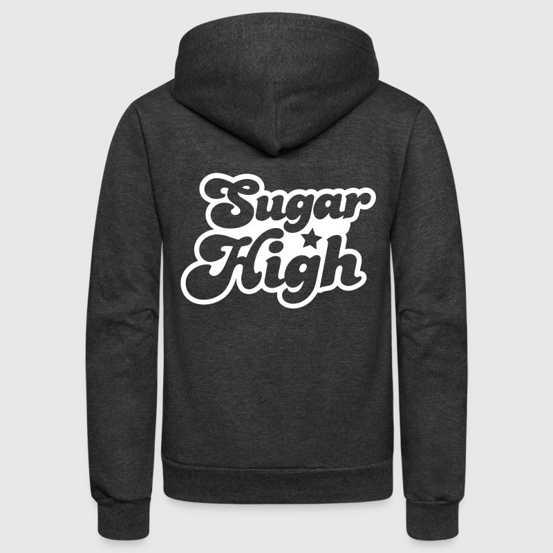 sugar high blue in a funky font - Unisex Fleece Zip Hoodie