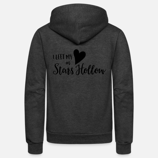 Heart Hoodies & Sweatshirts - Heart in Stars Hollow - Unisex Fleece Zip Hoodie charcoal gray