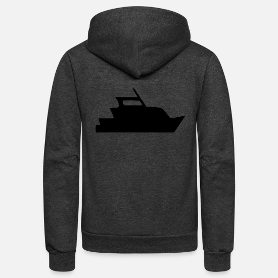 Boat Hoodies & Sweatshirts - Yacht - Unisex Fleece Zip Hoodie charcoal gray