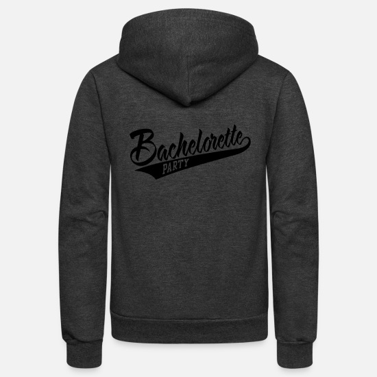 Love Hoodies & Sweatshirts - bachelorette party - Unisex Fleece Zip Hoodie charcoal gray