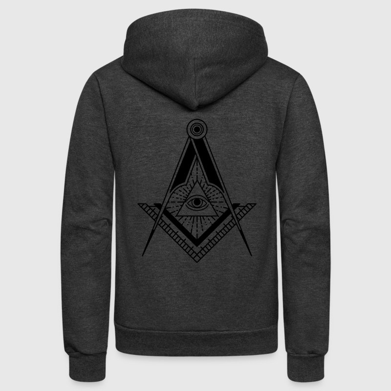 All Seeing Eye (Black) - Unisex Fleece Zip Hoodie