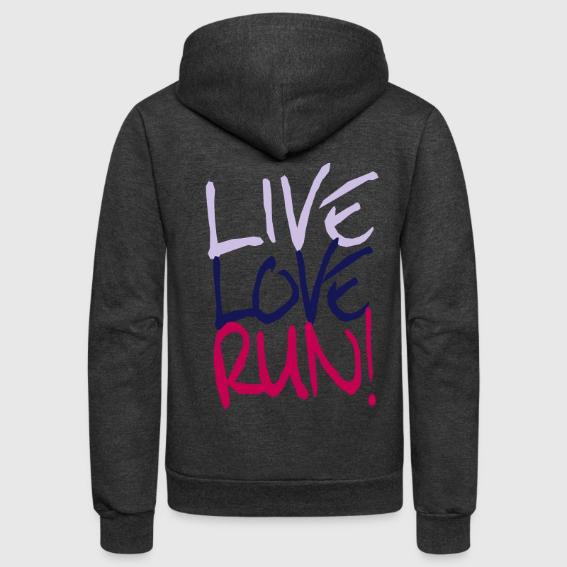Live Love Run! - Unisex Fleece Zip Hoodie