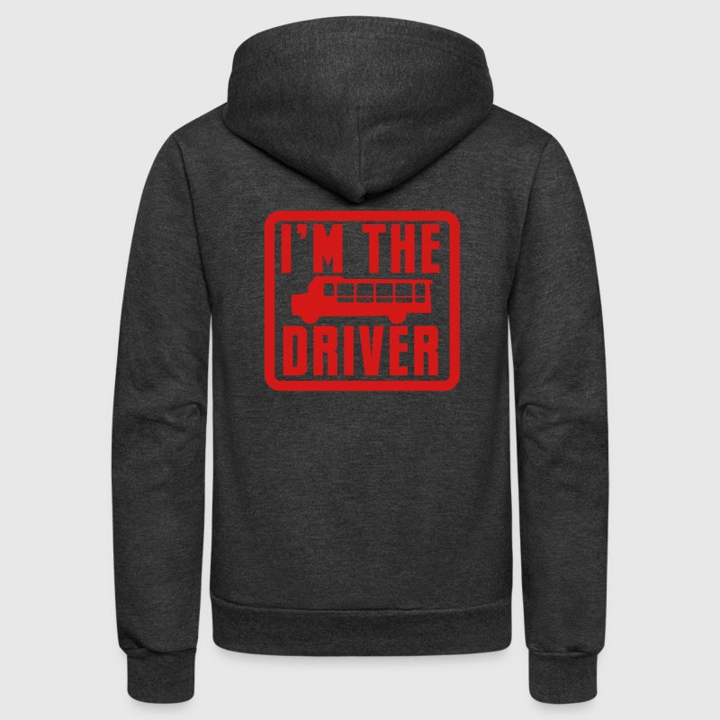 I'm the school bus driver in a rounded square - Unisex Fleece Zip Hoodie