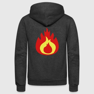 fat flame FLAMES hot - Unisex Fleece Zip Hoodie