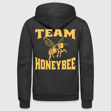 Team Honeybee, Honey Bee, Bumble Bee, Beekeeper Gift, Bee Lover - Unisex Fleece Zip Hoodie