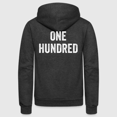 One Hundred, Pop Culture Gift, Urban Culture - Unisex Fleece Zip Hoodie