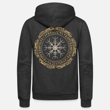 Weather Nordic Viking Symbol Vegvisir Nordic Compass - Unisex Fleece Zip Hoodie