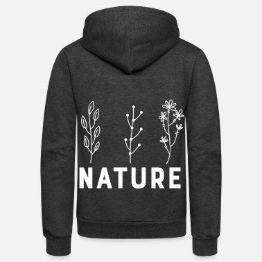 Nature Plant Nature Plants - Unisex Fleece Zip Hoodie