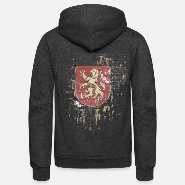 Coat Of Arms Retro Coat of Arms - Unisex Fleece Zip Hoodie