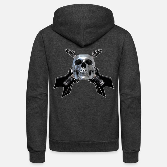 Heavy Metal Hoodies & Sweatshirts - MetalHead #2 - Unisex Fleece Zip Hoodie charcoal gray