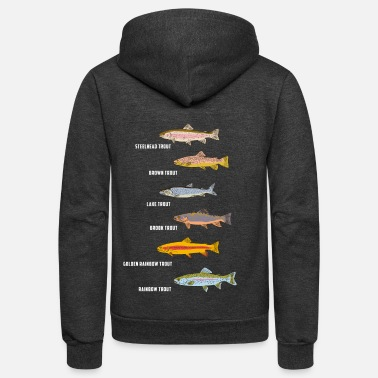 Fly Fish fishing | Fish species fishing gift idea - Unisex Fleece Zip Hoodie