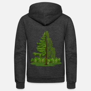 Forest And into the forest I go... - Unisex Fleece Zip Hoodie