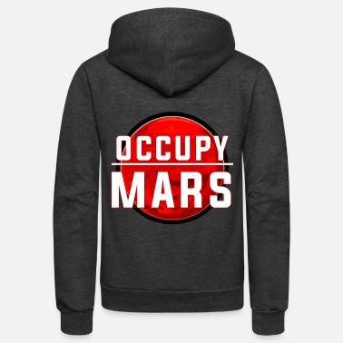 Occupy Occupy Mars - Unisex Fleece Zip Hoodie