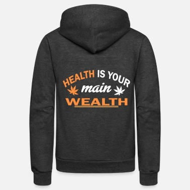 Health health - Unisex Fleece Zip Hoodie