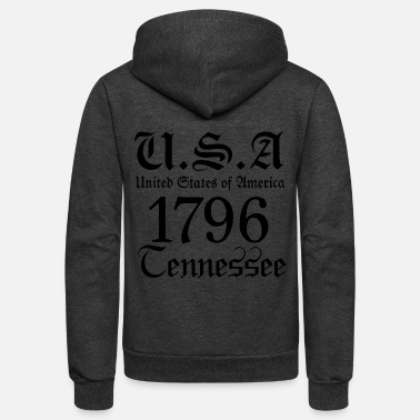 United Tennessee,United States of America, USA, United,US - Unisex Fleece Zip Hoodie