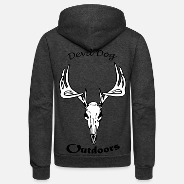 Devil Dog Outdoors Modern - Unisex Fleece Zip Hoodie