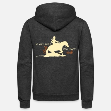 Western Riding Western Girl - Unisex Fleece Zip Hoodie