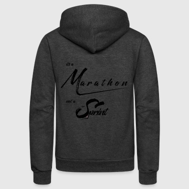 It's a Marathon not a Sprint! - Unisex Fleece Zip Hoodie