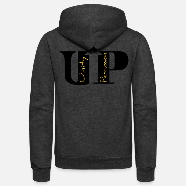 Unity Percussion logo black - Unisex Fleece Zip Hoodie
