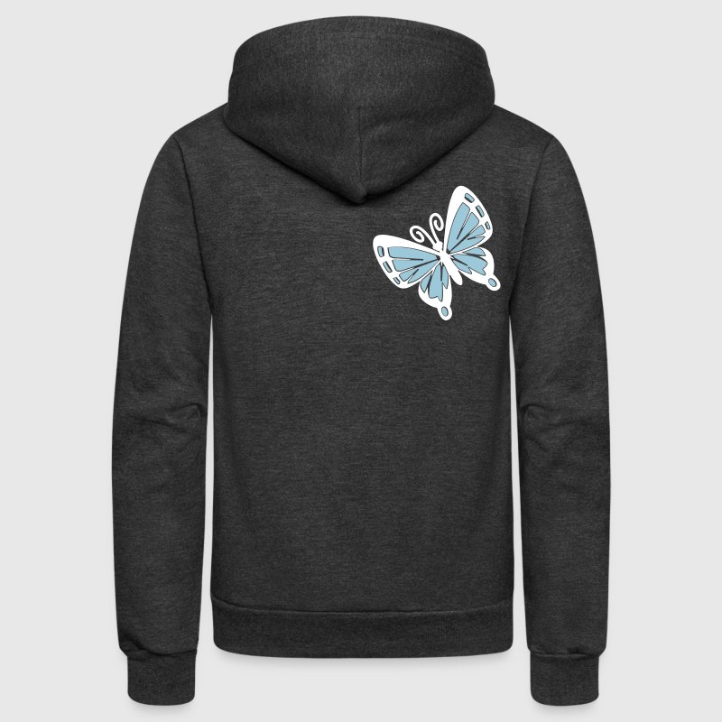 Simple bold two color butterfly - Unisex Fleece Zip Hoodie