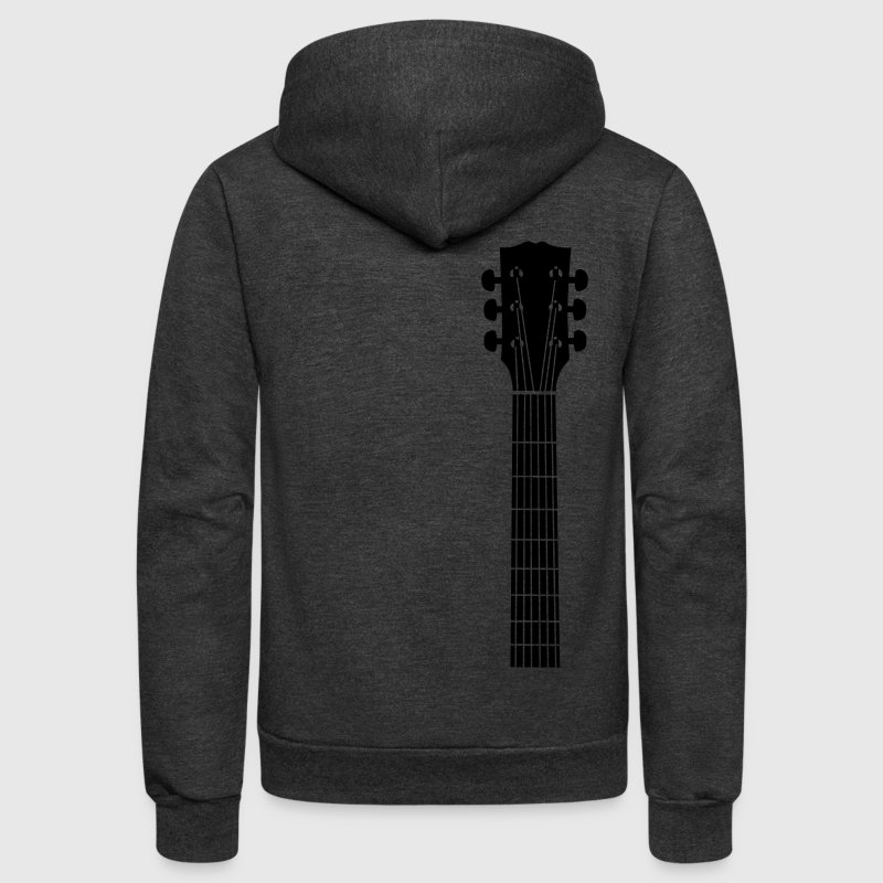 guitar head - Unisex Fleece Zip Hoodie