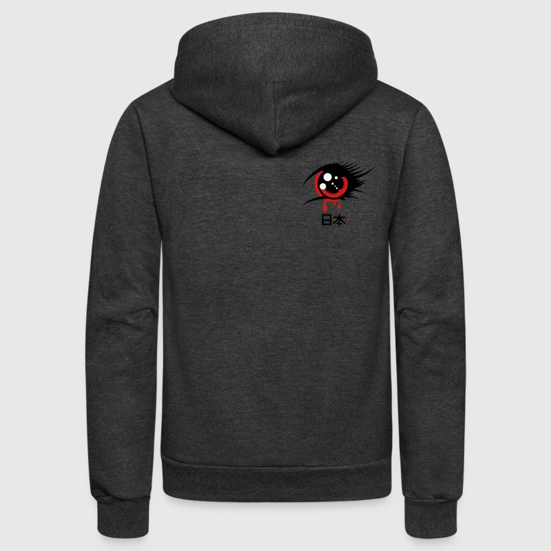 A Japanese anime eye - Unisex Fleece Zip Hoodie
