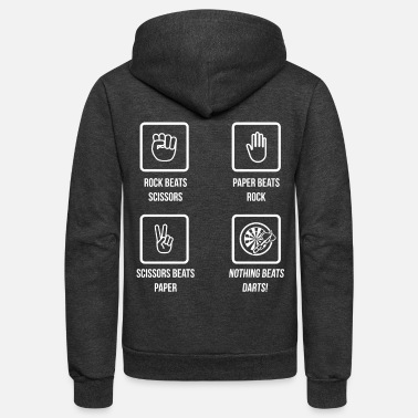 Darts Nothing Beats Darts Funny Hobby Game Gift - Unisex Fleece Zip Hoodie