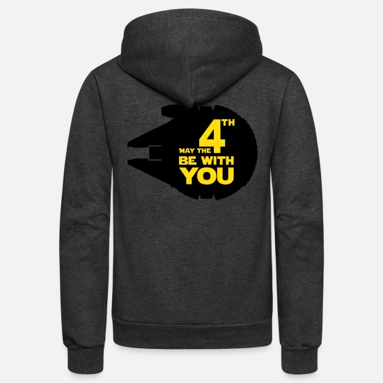 You Hoodies & Sweatshirts - May the fourth be with you - Unisex Fleece Zip Hoodie charcoal gray
