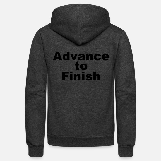 Broken Hoodies & Sweatshirts - Advance to Finish - Unisex Fleece Zip Hoodie charcoal gray