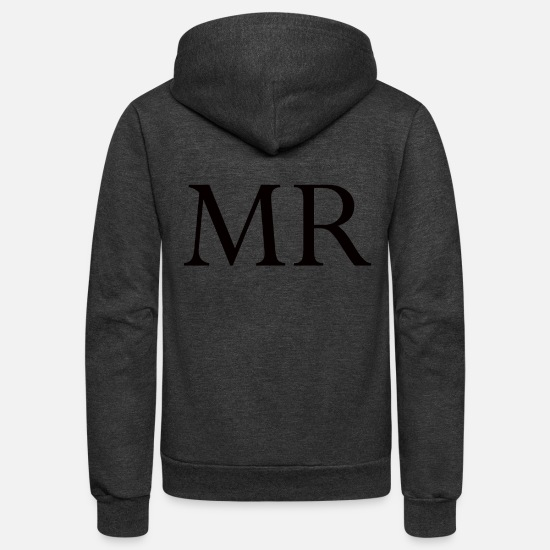 Mr Hoodies & Sweatshirts - Mr. - Unisex Fleece Zip Hoodie charcoal gray
