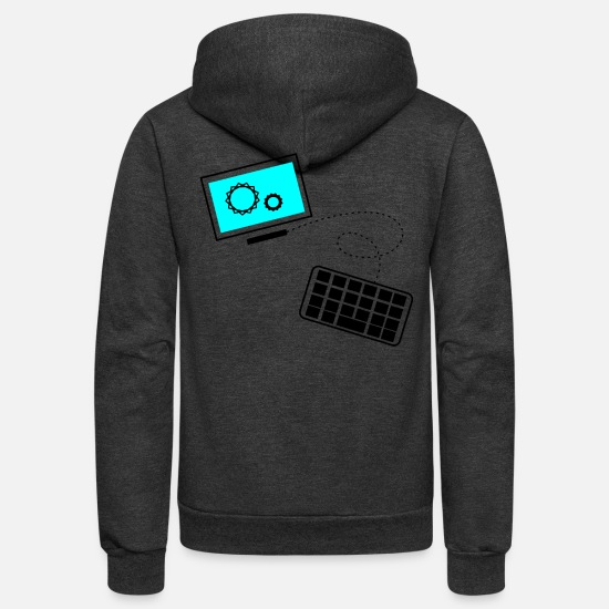 Computer Hoodies & Sweatshirts - pc online - Unisex Fleece Zip Hoodie charcoal gray